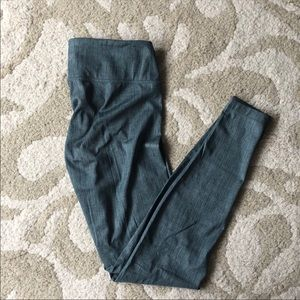Green Lululemon Leggings sz 4/6